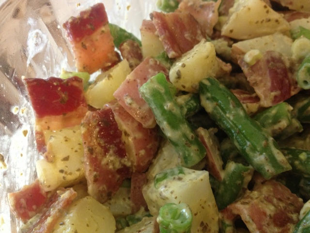 Bacon Pesto Potato