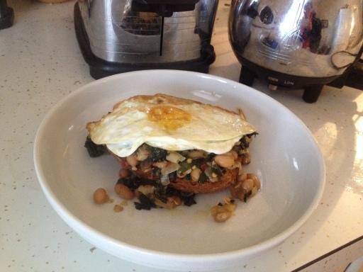 Kale-egg-toast