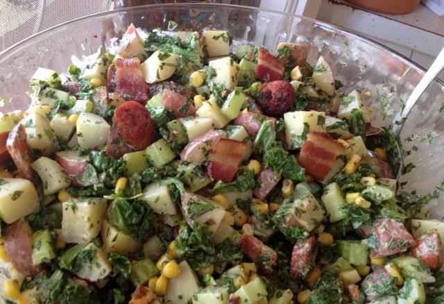 Mustard Green Potato Salad