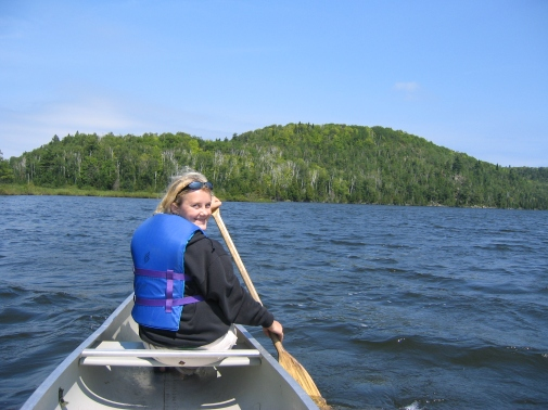2005 and Annalesa's first time paddling a canoe.