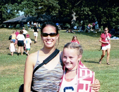 2003 Coaching Annalesa at Ironkids Triathlon
