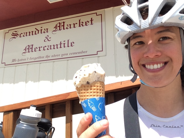 biking ice cream